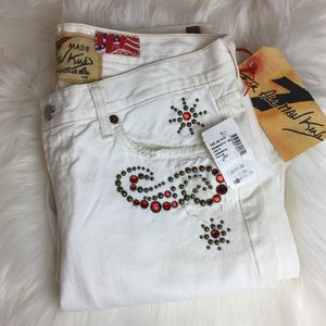 NWT 7 For All ManKind Embellish Jeans